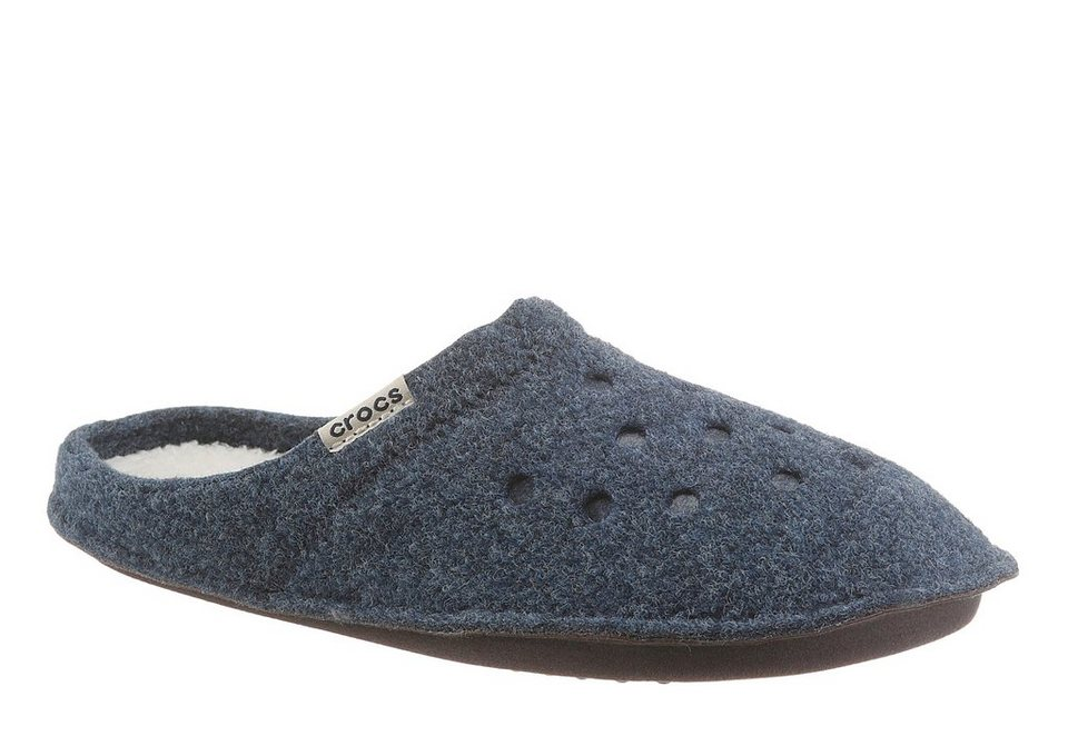 Crocs »Classic Slipper« Pantoffel mit Logo Flag in navy