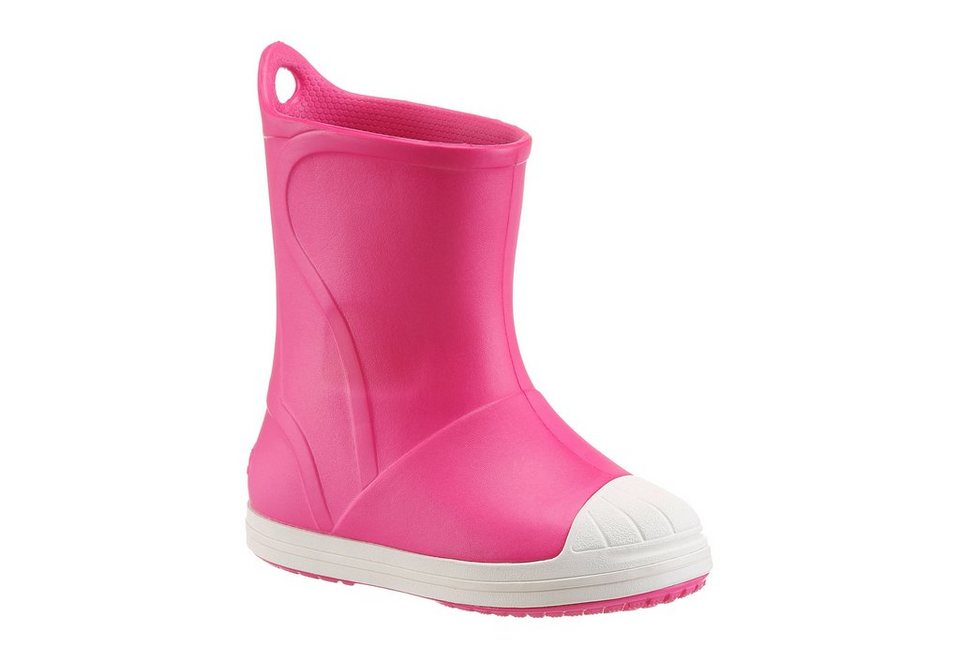 Crocs »Bump It Boot« Gummistiefel in pink-weiß