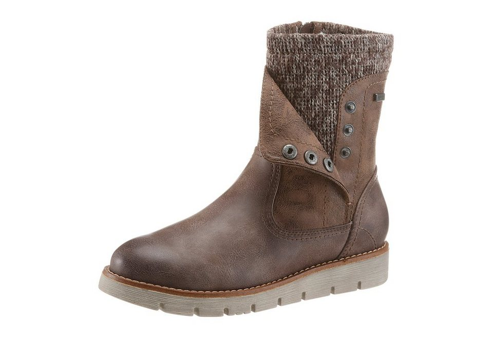 Jana Winterboots mit Tex-Membrane in taupe