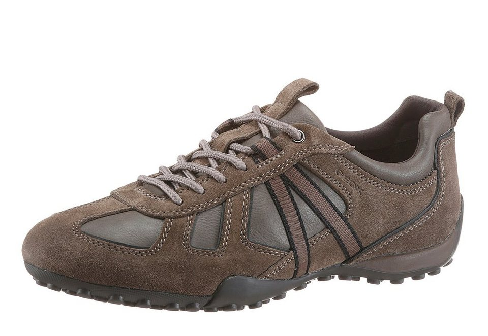 Geox Sneaker im Material Mix in taupe