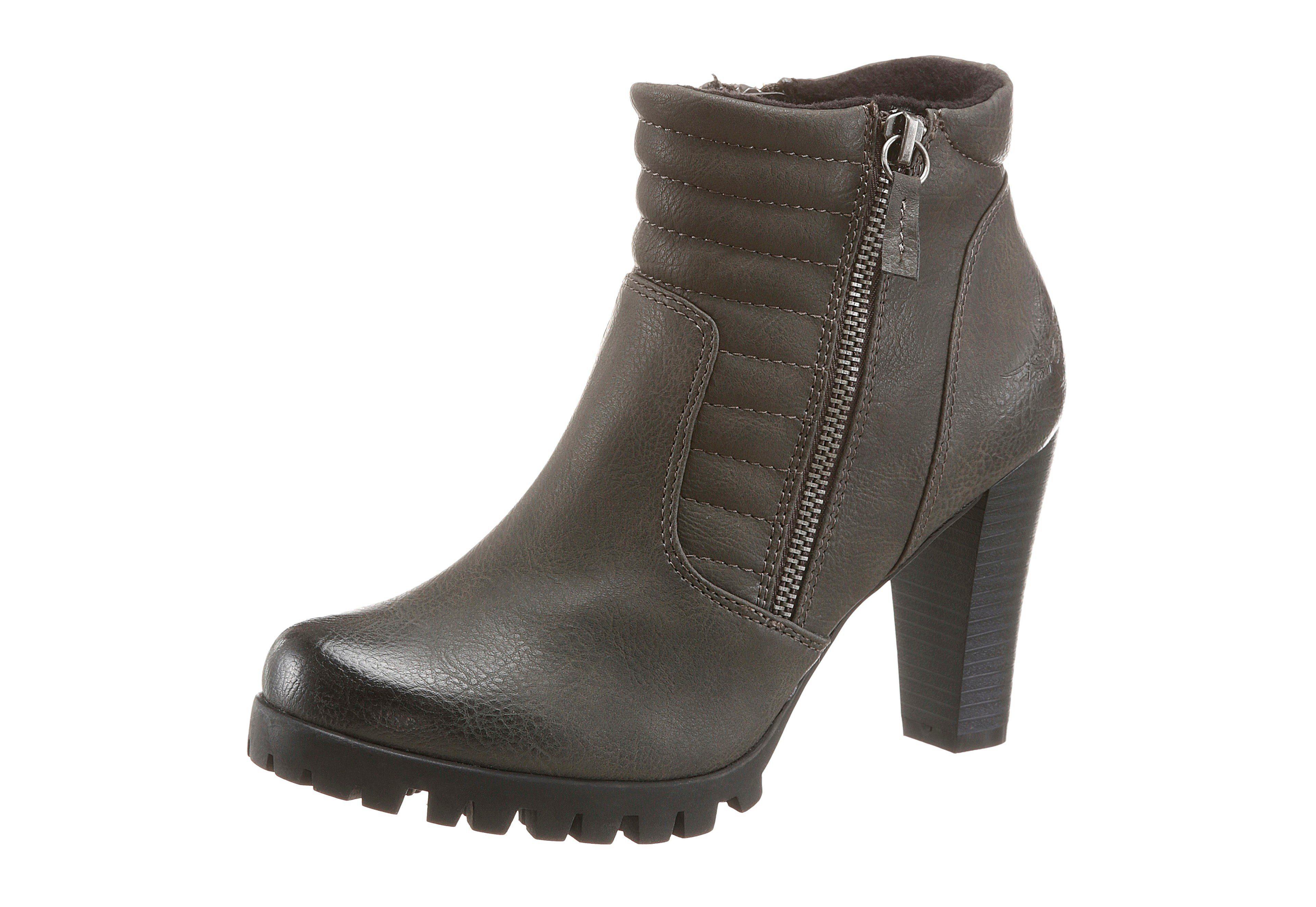 Damen Stiefelette/High Heels/Elegante Damenschuhe/Halbhohe Stiefel/Blockabsatz/Khaki/Braun, EU 40
