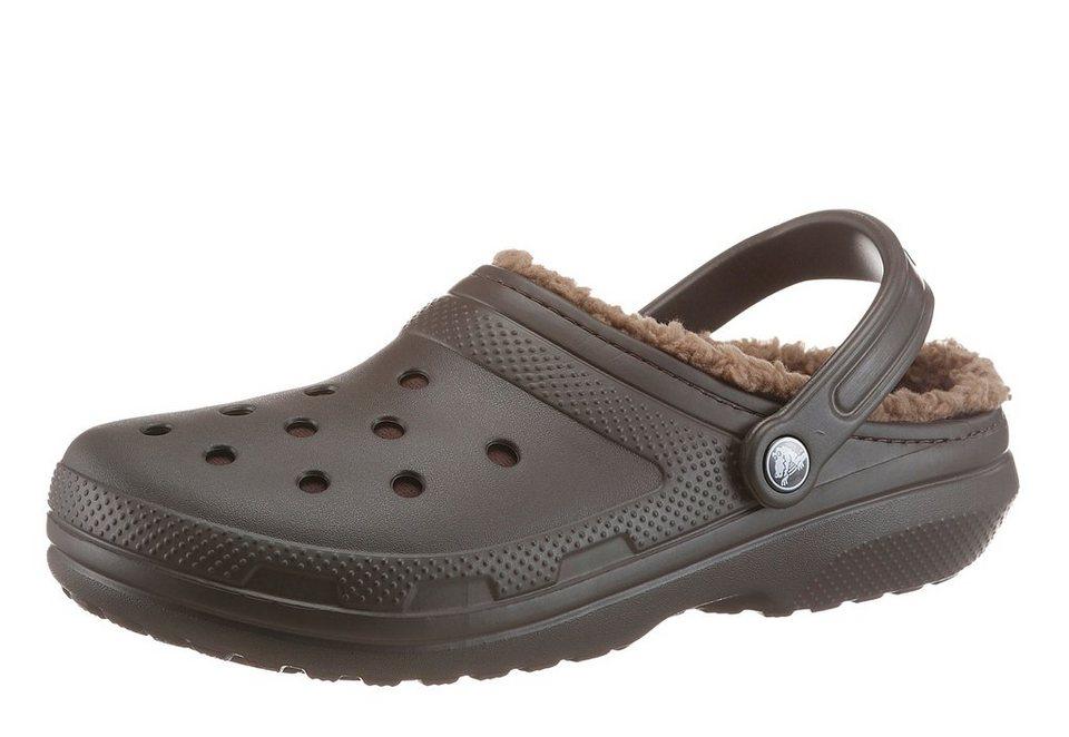 Crocs Clog mit Warmfutter in dunkelbraun