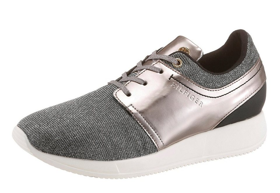 Tommy Hilfiger Sneaker in taupe-silberfarben