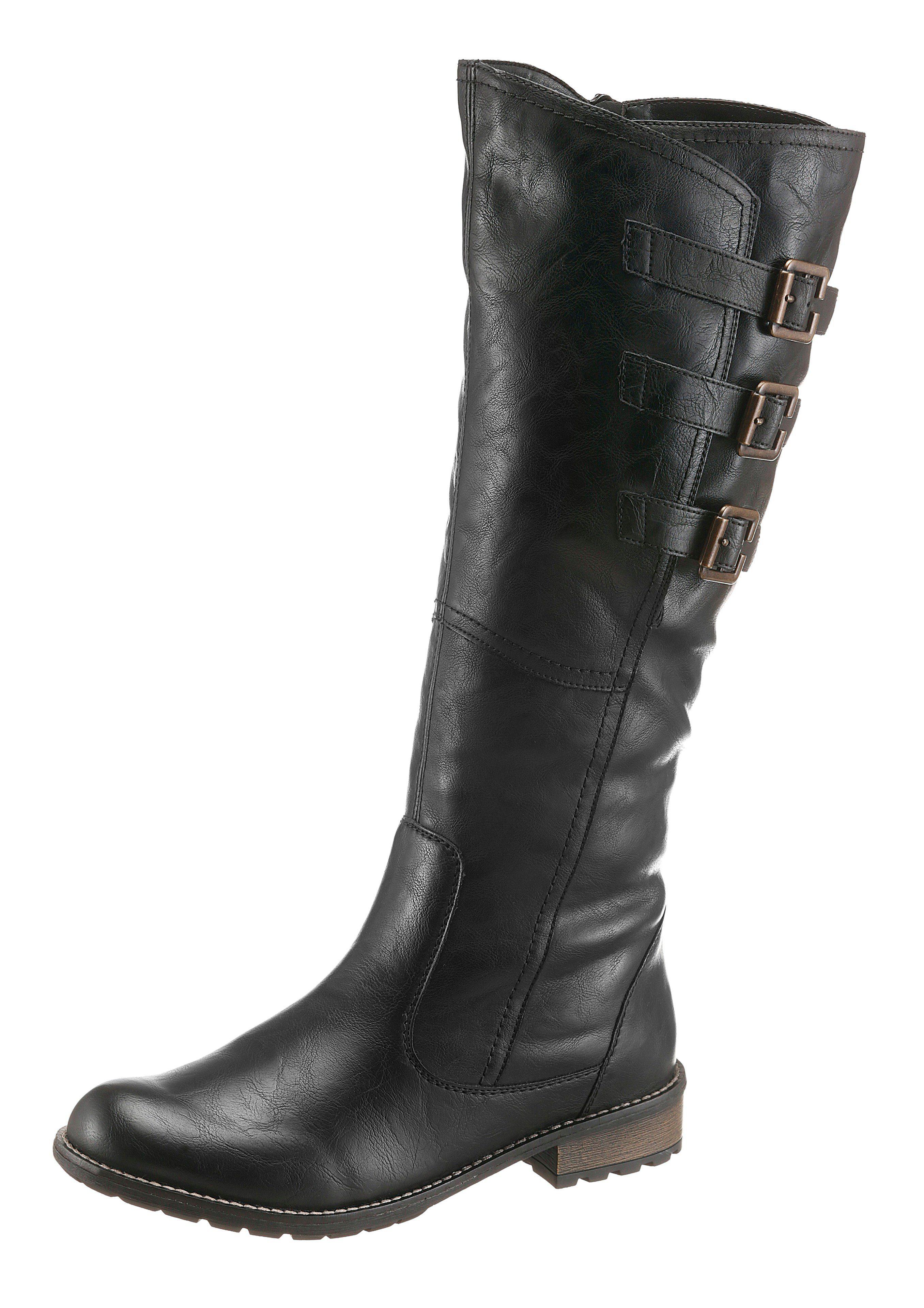 Remonte Stiefel mit Varioschaft, Obermaterial aus pflegeleichtem Lederimitat online kaufen   OTTO