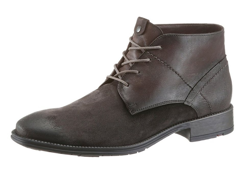 Lloyd »Dero« Stiefelette im Material Mix in grau-used