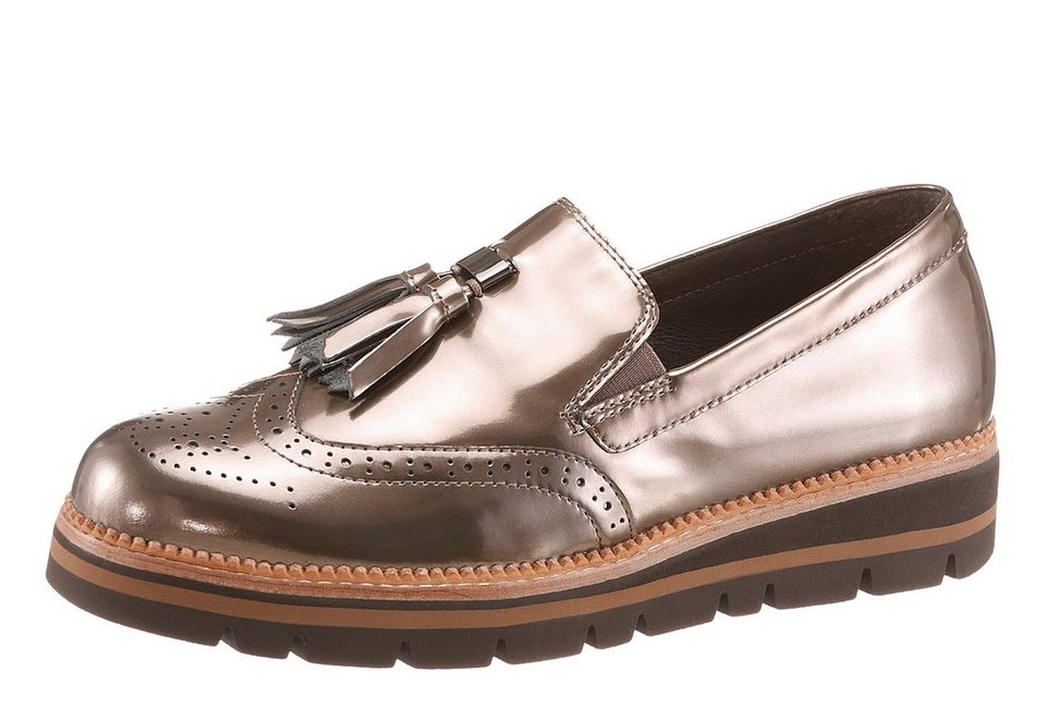 Gabor Slipper im Dandy-Style in taupe