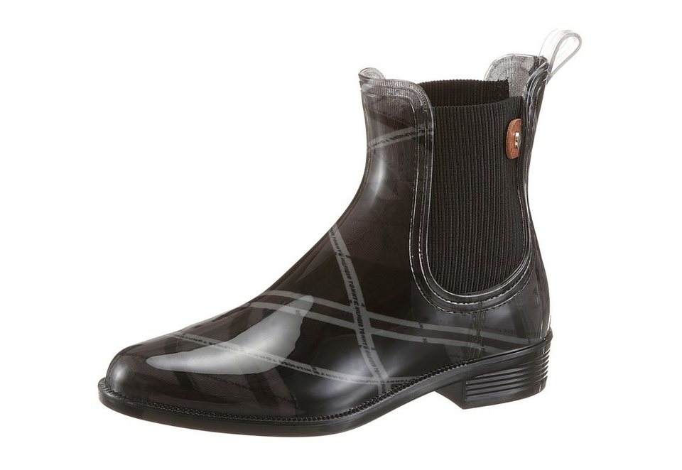 Tommy Hilfiger Chelseaboots in schwarz-grau