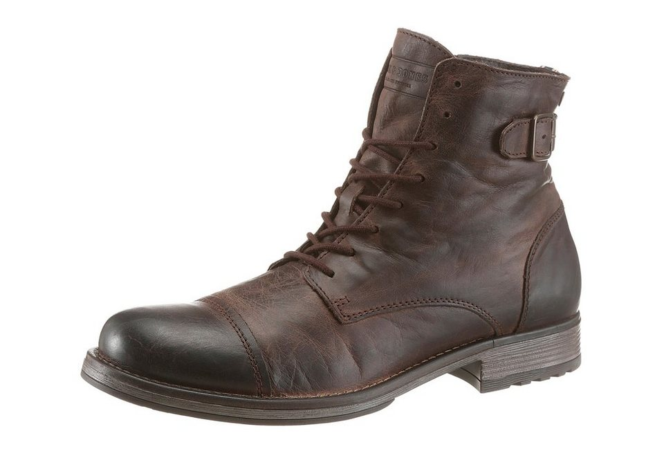Jack & Jones »Siti« Schnürstiefel im Used Look in braun-used