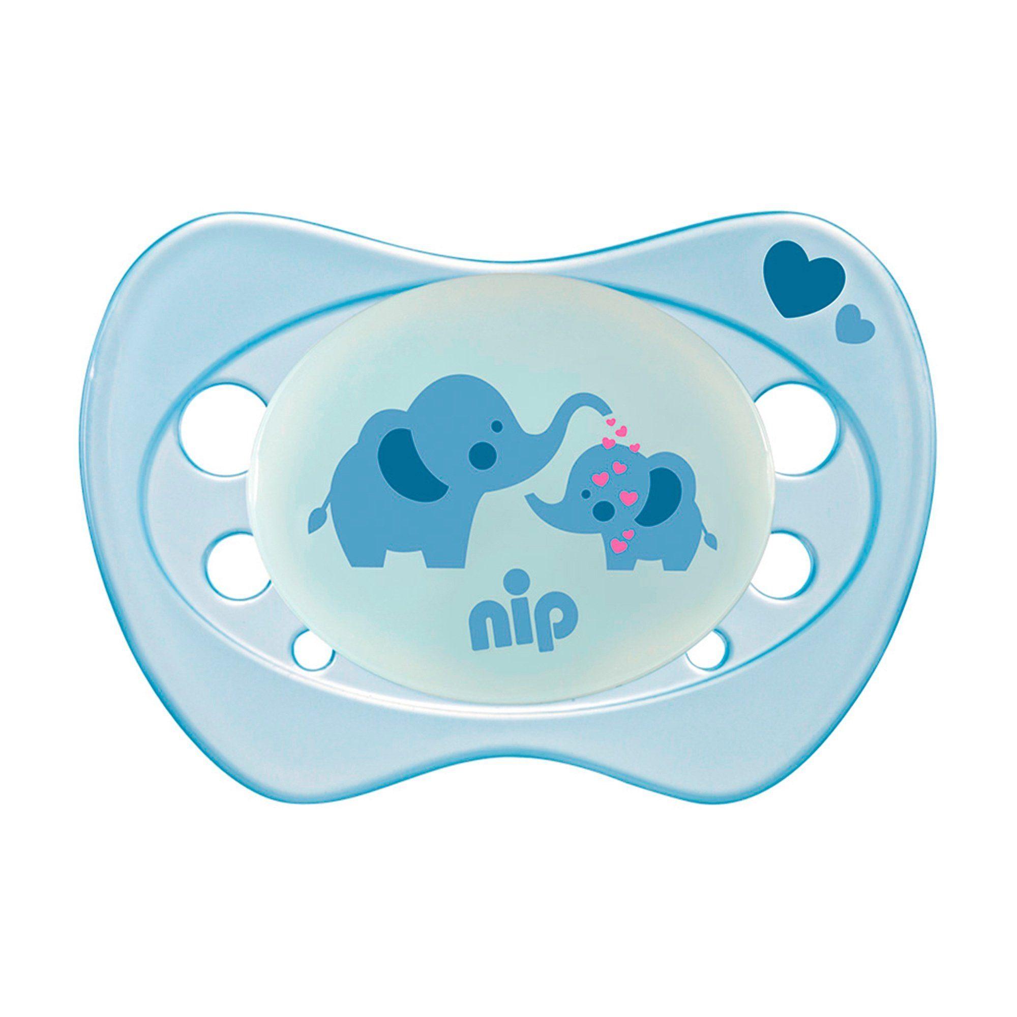 NIP Leuchtschnuller Newborn Elefant & Hippo Boy