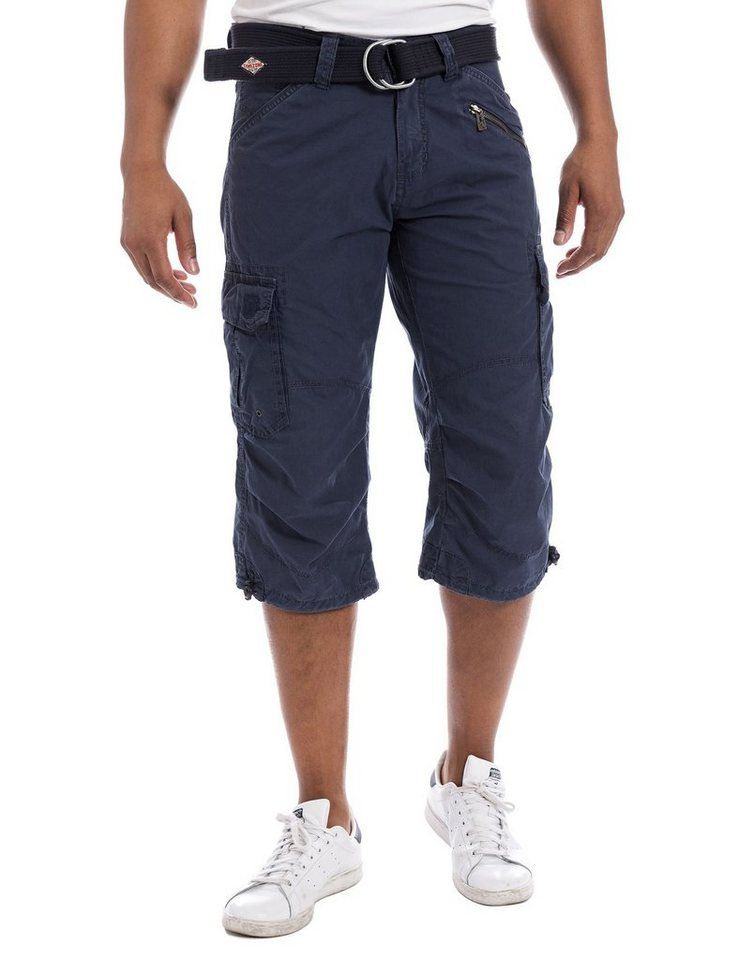 TIMEZONE Hosen kurz »MilesTZ cargo 3/4 pants incl. belt« in mood indigo