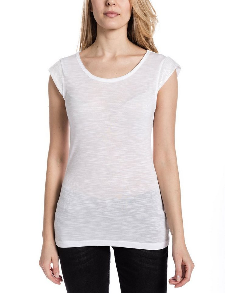 TIMEZONE T-Shirts (mit Arm) »T-shirt« in pure white