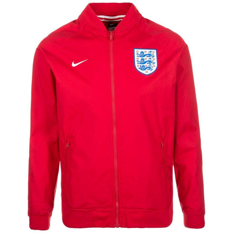 NIKE England Authentic Varsity Jacke EM 2016 Herren in rot