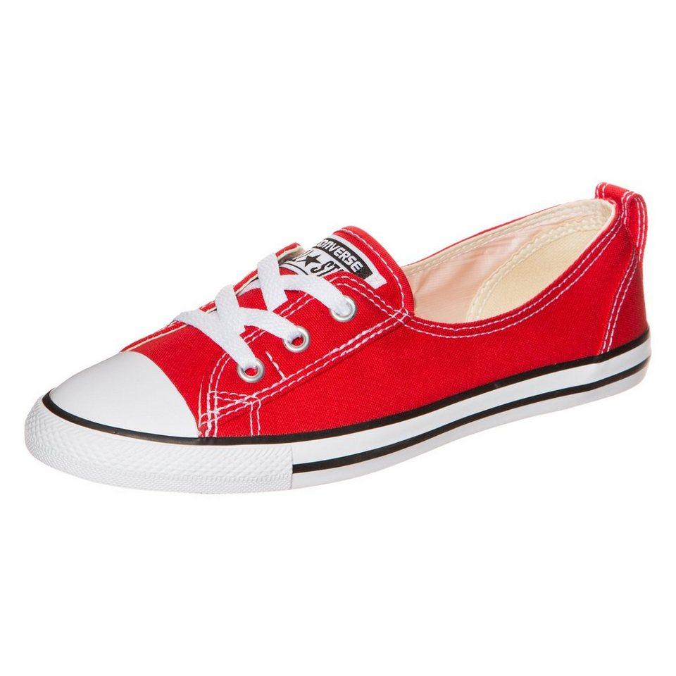 CONVERSE Chuck Taylor All Star Ballet Lace Slip Sneaker Damen in rot / weiß