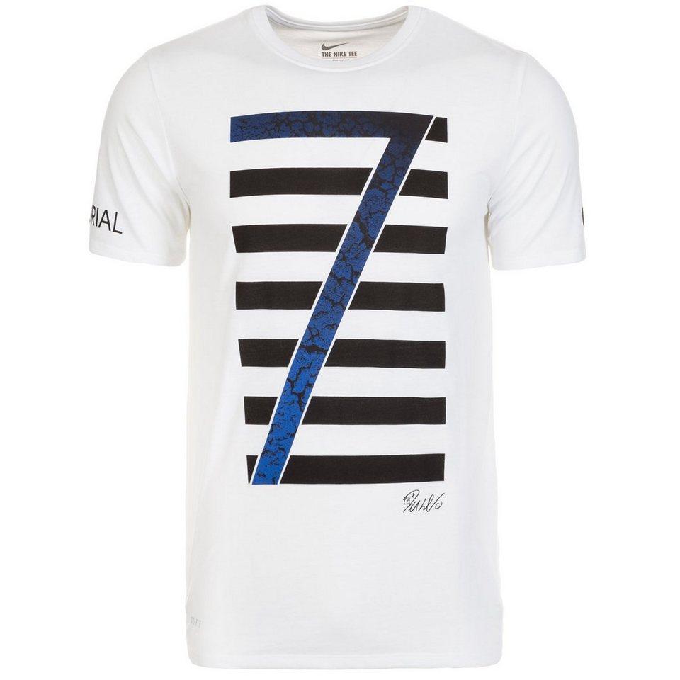 NIKE Ronaldo Logo T-Shirt Herren in weiß