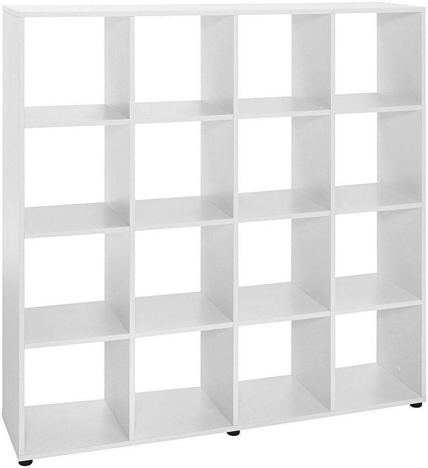 Raumteiler-Regal »16 Fach«, Breite 124,9 cm in weiß