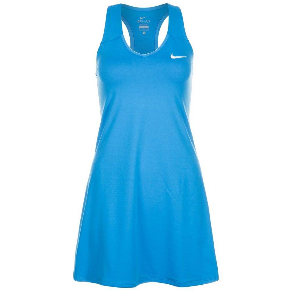 NIKE Pure Tenniskleid Damen in blau / weiß
