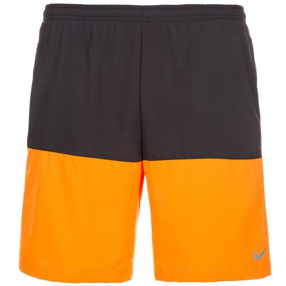 NIKE Distance Laufshort Herren in schwarz / orange