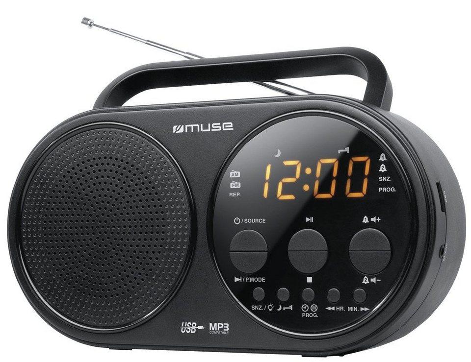 Muse Tragbares Uhrenradio »M-088 R« in schwarz