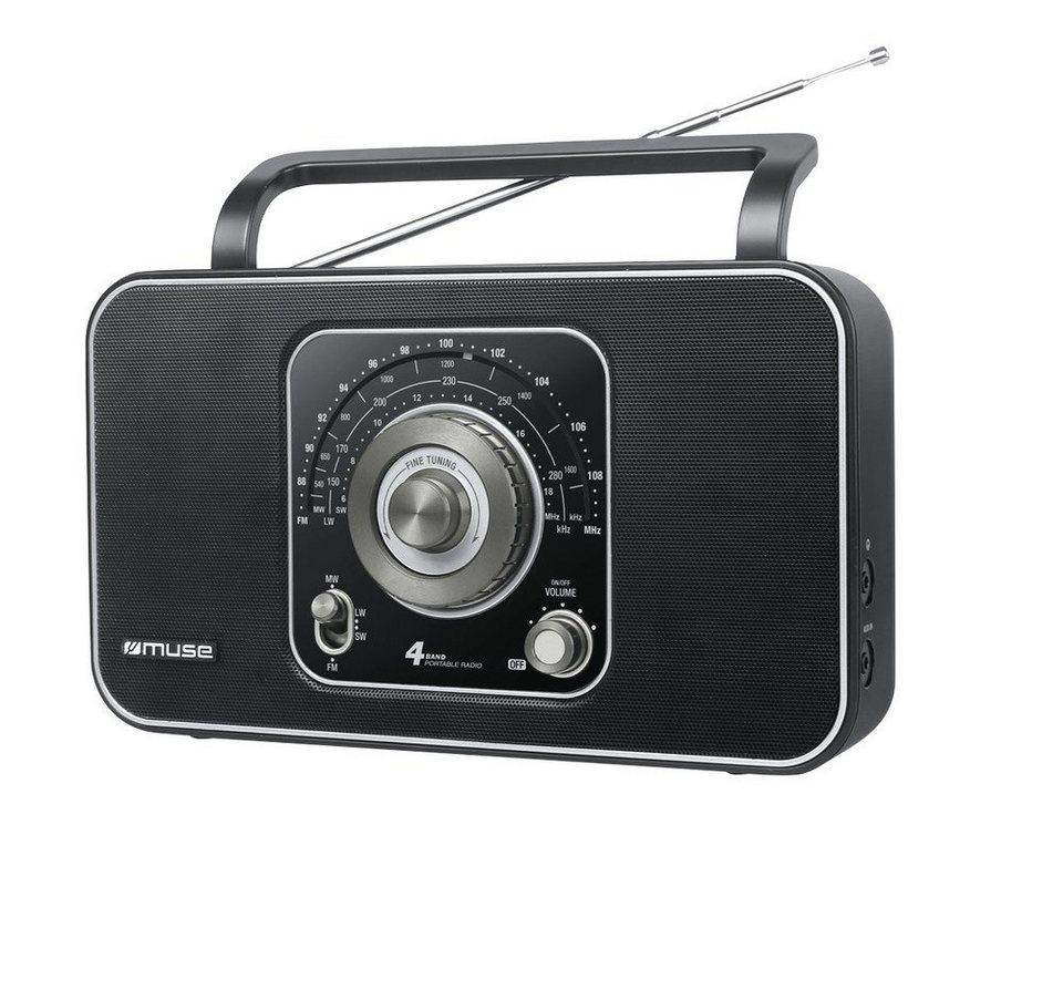 Muse Schönes Nostalgieradio »M-068 R« in schwarz