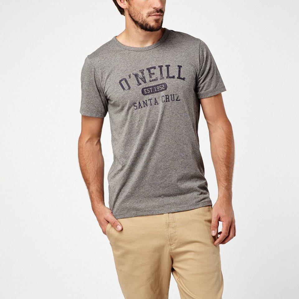 O'Neill T-Shirt kurzärmlig »Santa cruz melange t-shirt« in Grau meliert