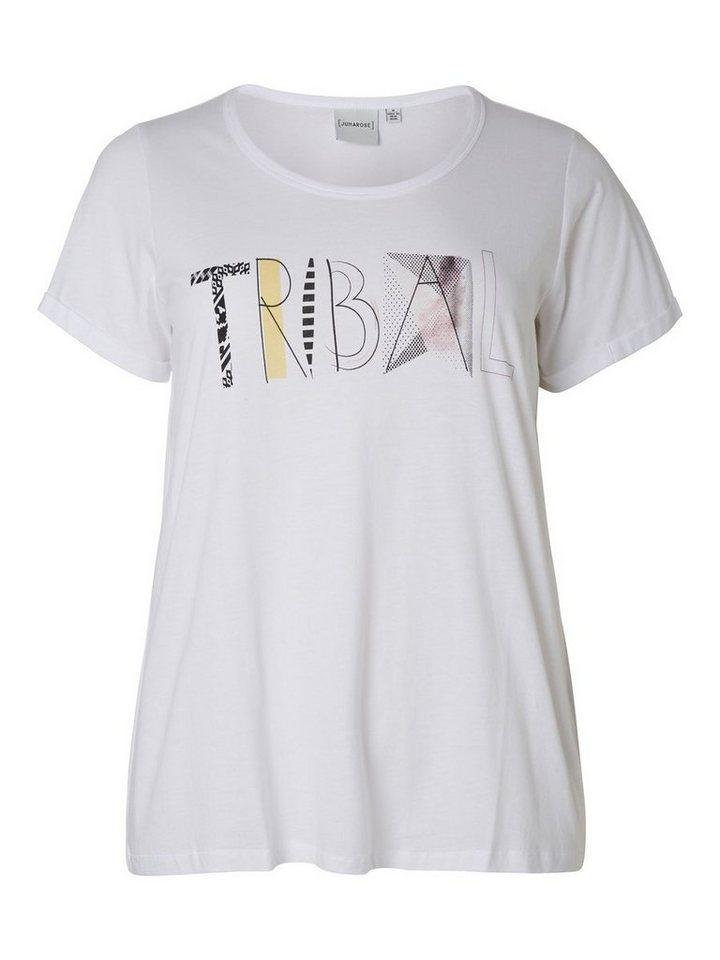 JUNAROSE Vorn bedrucktes T-Shirt in Bright White
