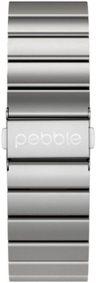 Pebble Ersatz-/Wechselarmband »Metall Armband für Time Round 20 mm« in Silber