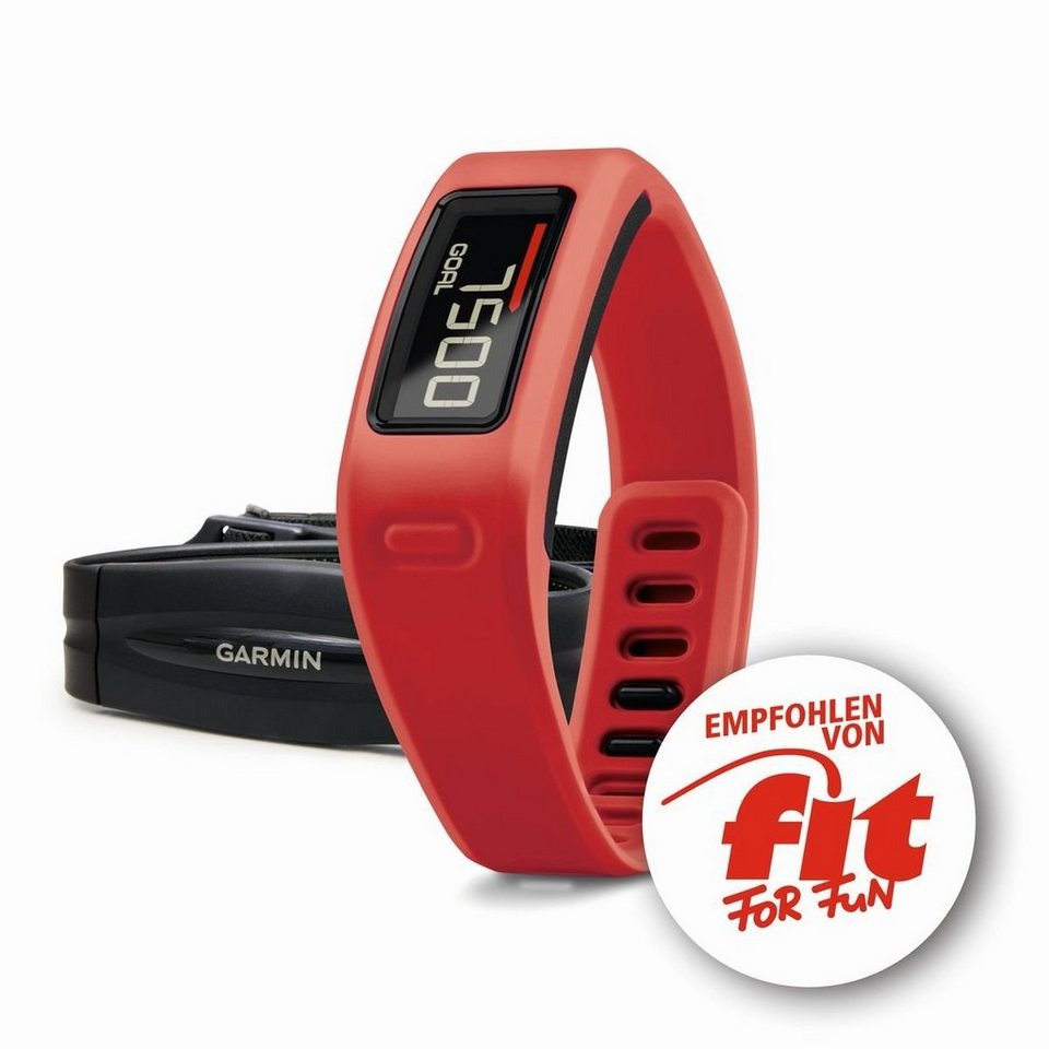 Garmin Activity Tracker »vivofit inkl. Brustgurt(fit FOR FUN)« in Rot