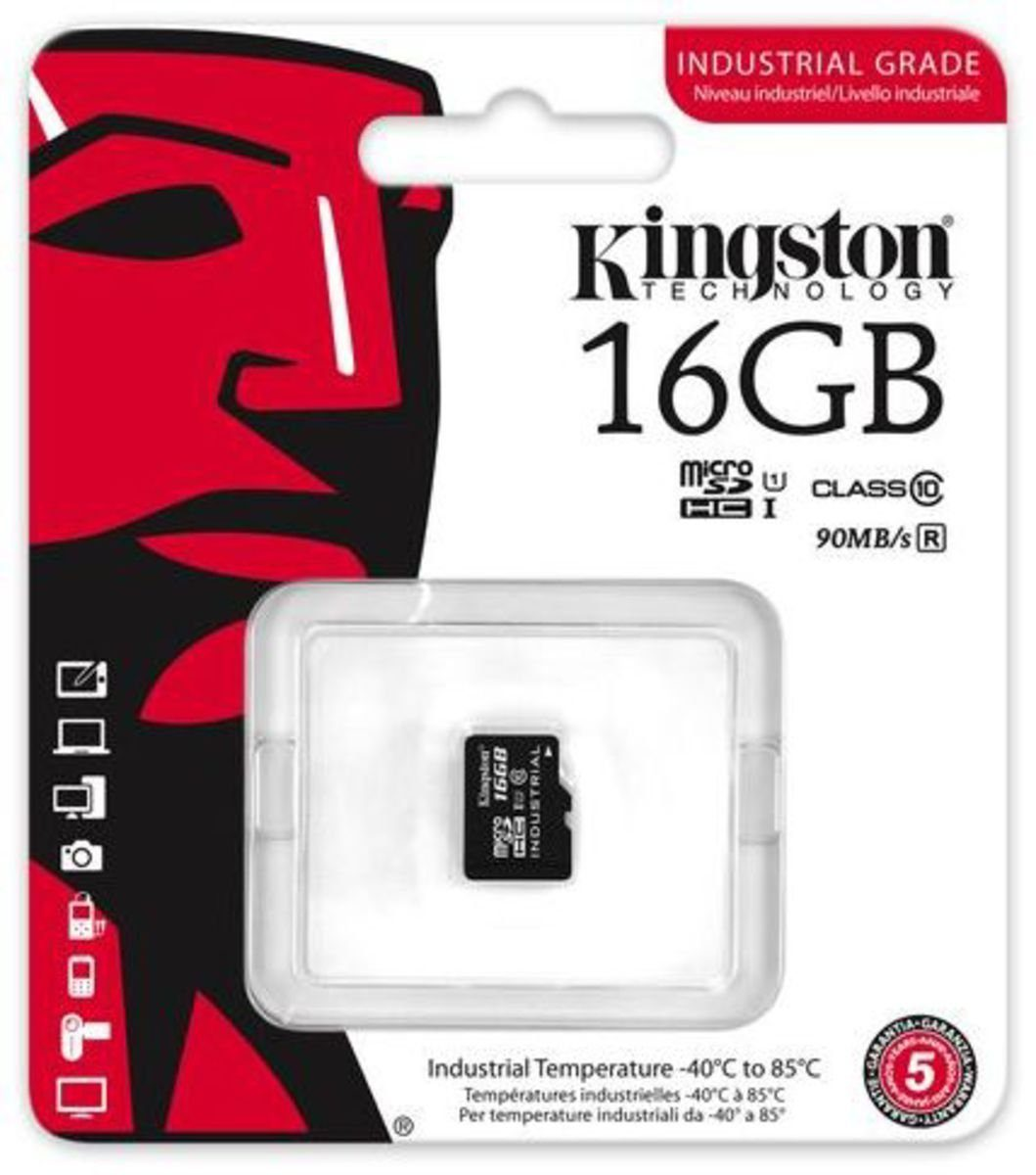 Kingston Speicherkarte »microSDHC Industrial Temp UHS-1 ohne Adapter, 16GB«