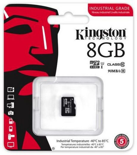 Kingston Speicherkarte »microSDHC Industrial Temp UHS-1 ohne Adapter, 8GB«