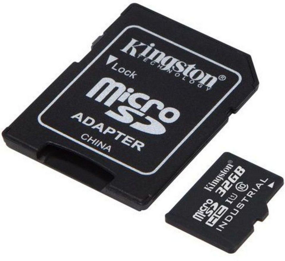 Kingston Speicherkarte »microSDHC Industrial Temp, UHS-1 mit Adapter, 32GB« in Schwarz