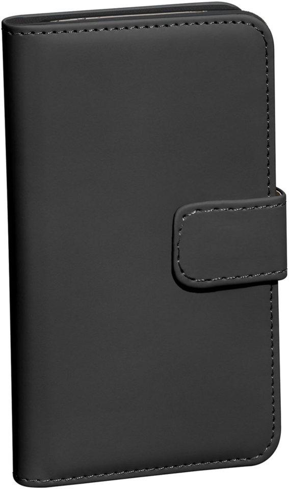 PEDEA Handytasche »Book Cover Glasschutzfolie für Sony Xperia X« in Schwarz