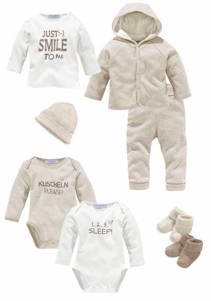 Klitzeklein Starterpaket (8-tlg.), für Babys in Beige-Meliert