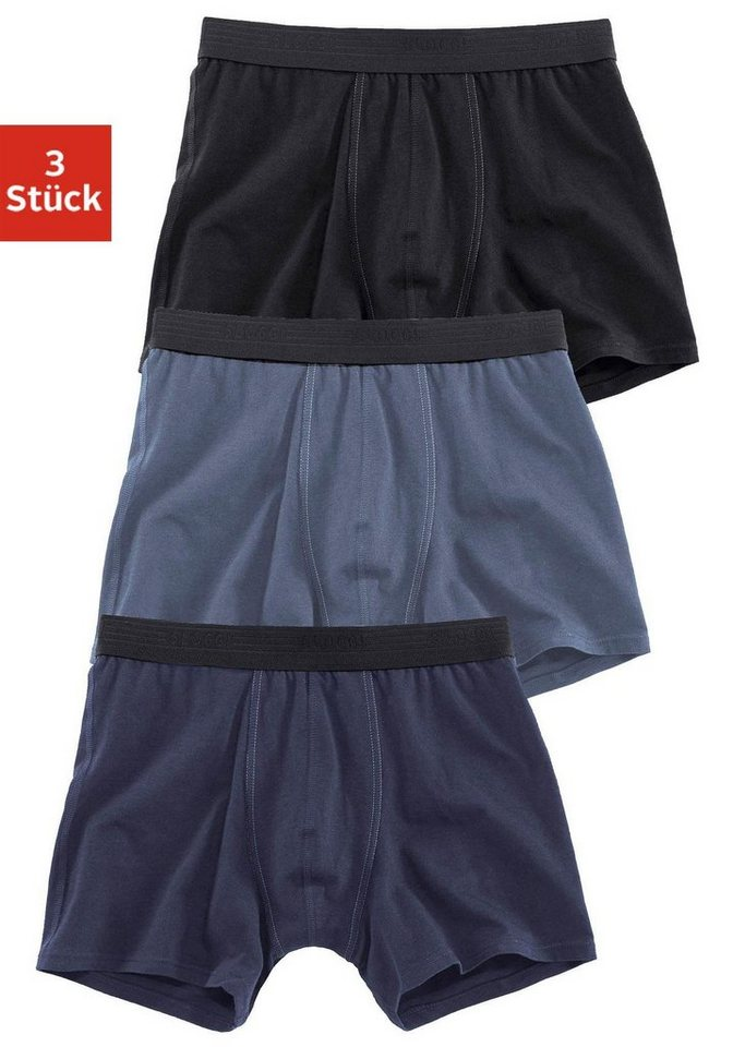 Sloggi Boxer (3 Stück) in schwarz + marine + blau