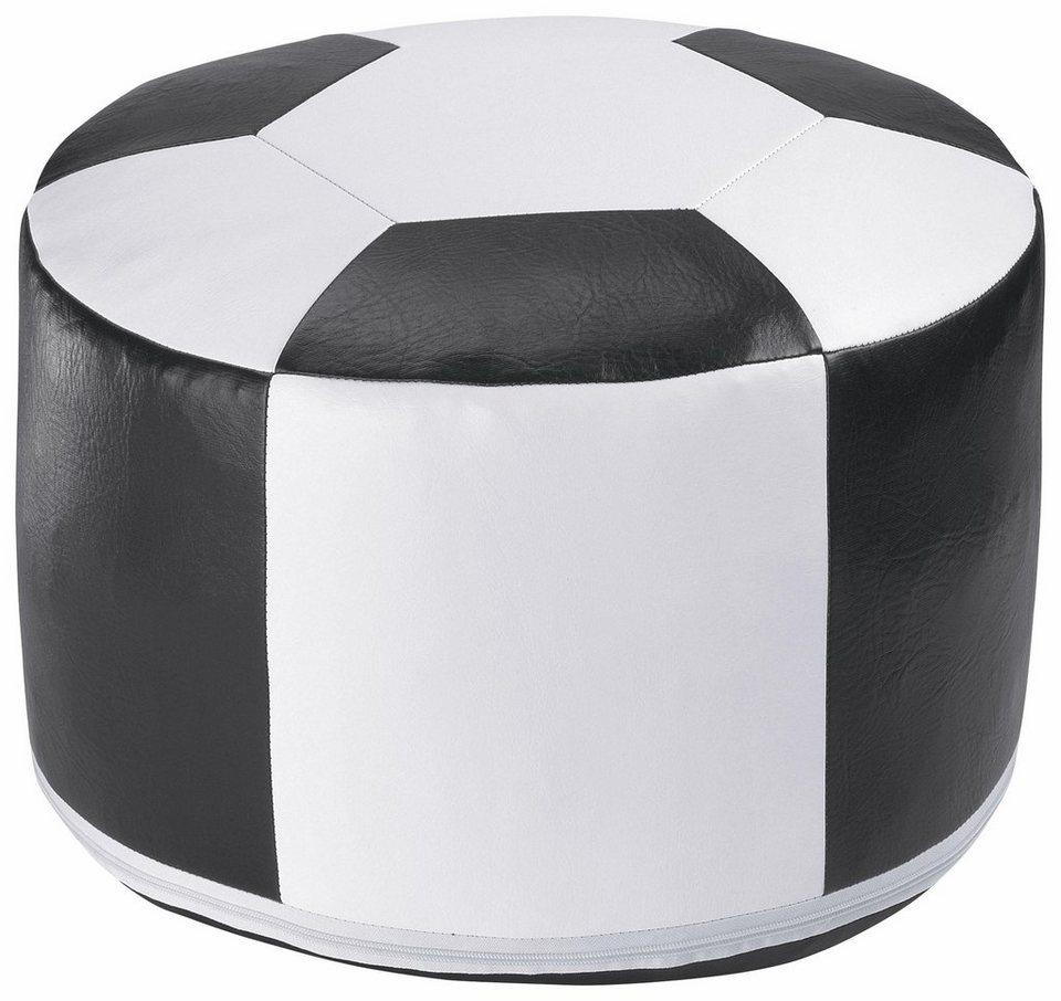 Home affaire Sitzkissen »Fußball« in weiss/schwarz