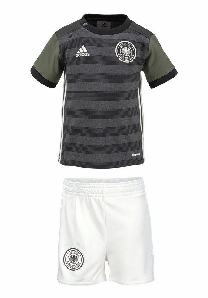 adidas Performance DFB AWAY BABY KIT EM 2016 Sportanzug in Dunkelgrau-Khaki-Offwhite