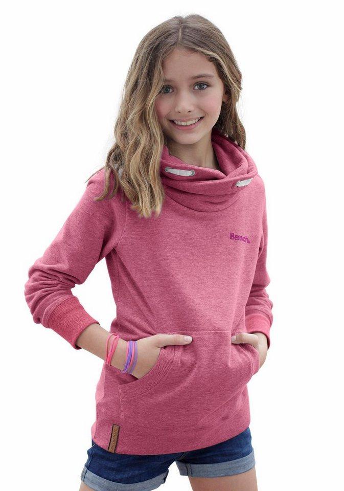 Bench Sweatshirt in schmaler Form in pink-meliert