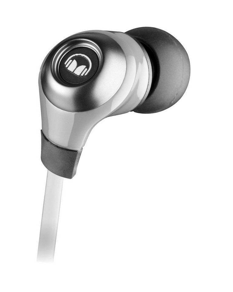 Monster N-Lite InEar Kopfhörer mit Mikrofon in silver
