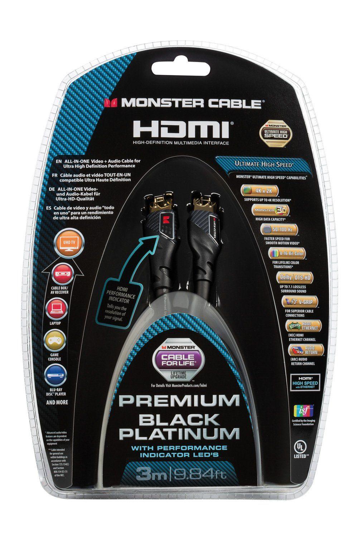 Monster Ultra HD LED HDMI Kabel 3 m »Black Platinum«