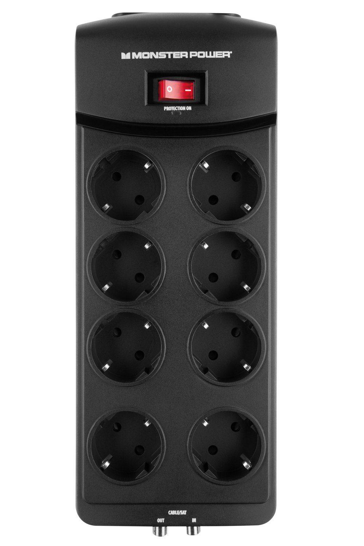 Monster 8-fache AV Steckdosenleiste mit Überspannungsschutz