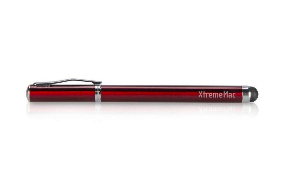 XtremeMac 2 in 1 Stylus Pen für Papier und Touchscreen in red