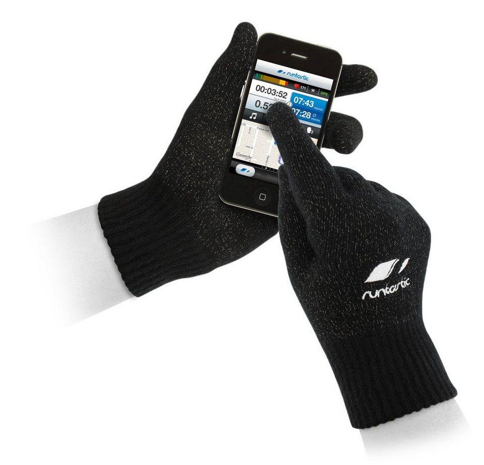 Runtastic Sporthandschuhe zum Bedienen von Smartphone und Tablet in black