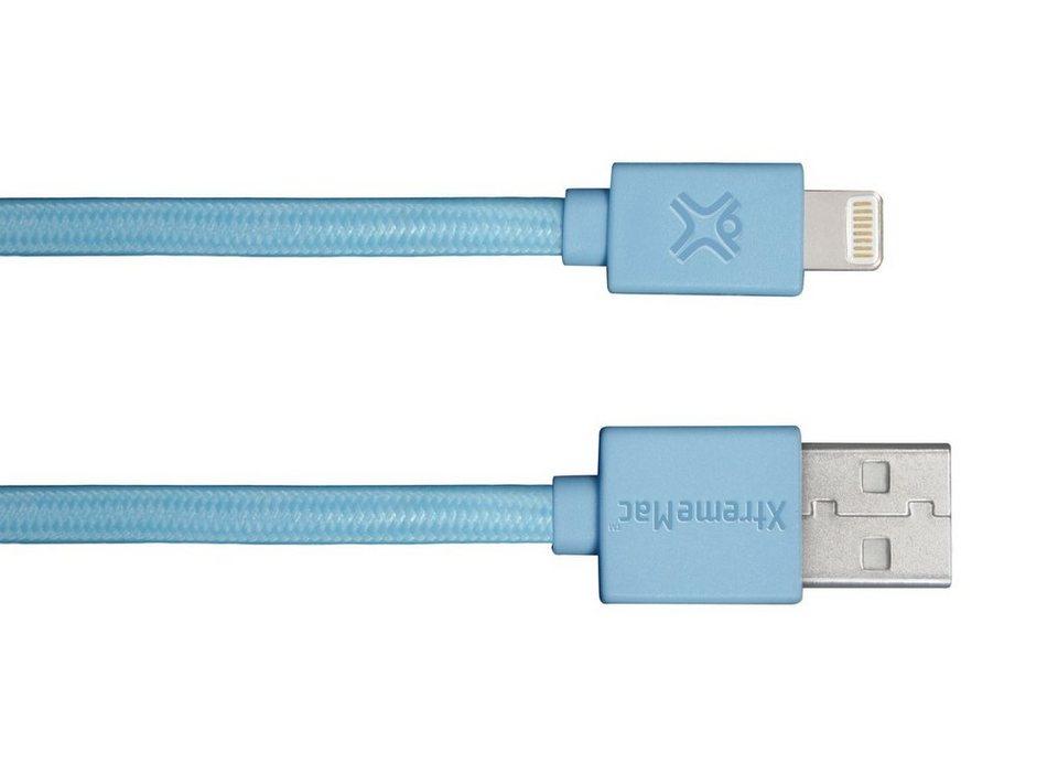 XtremeMac Lade- & Synchronisierungsflachbandkabel in blue
