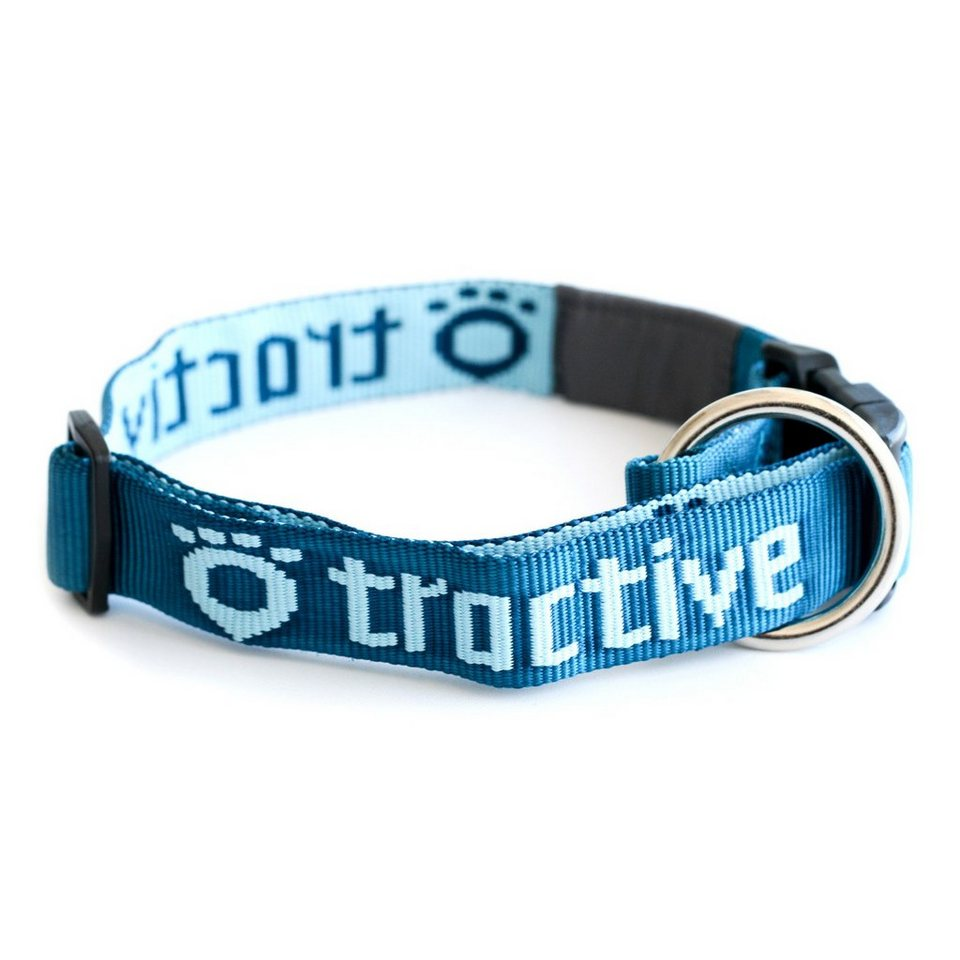Tractive Hundehalsband 45-70cm in blue