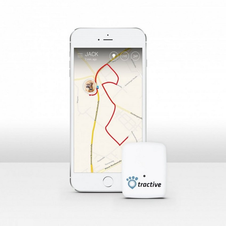 Tractive GPS Tracker für Haustiere in white