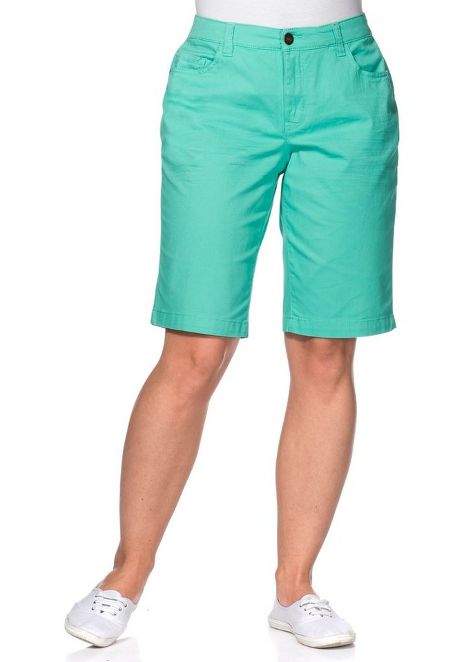 sheego Casual Stretch-Bermuda in mint