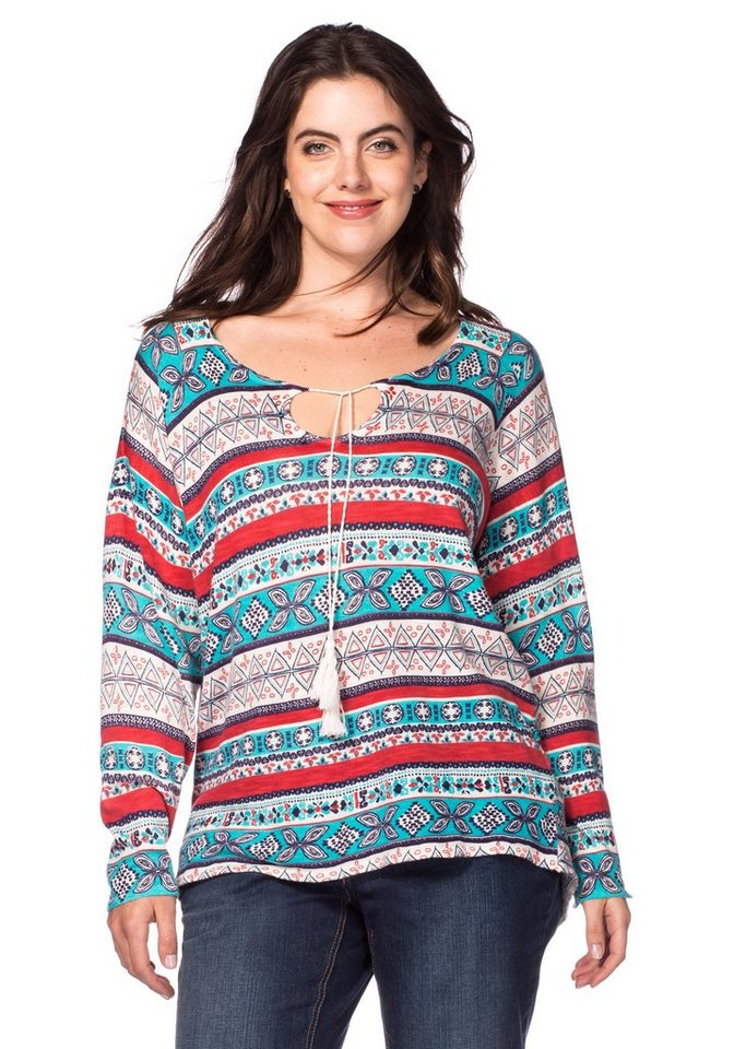 sheego Casual Pullover in allover bedruckt