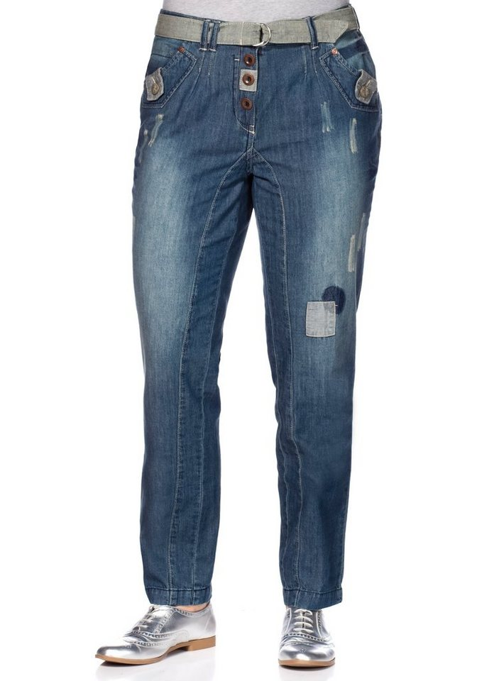 Joe Browns Chino Stretch-Jeans Joe Browns in blue Denim