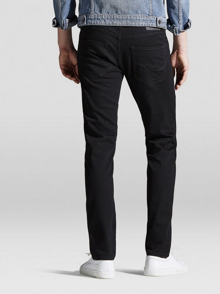 Jack & Jones Tim Original AM 009 Slim Fit Jeans in Black Denim