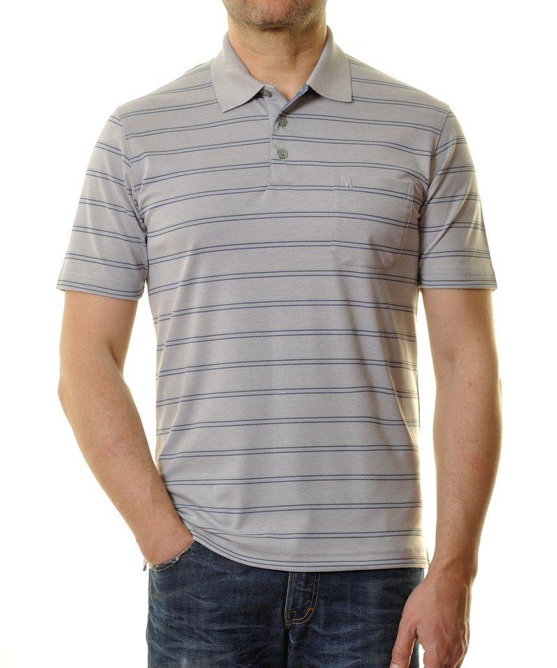 Ragman Poloshirt in silberfarben