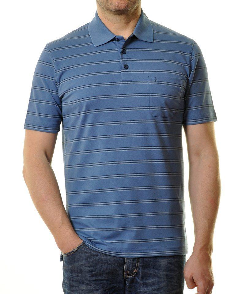Ragman Poloshirt in dunkelblau